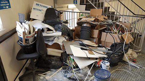commercial rubbish removal birmingham before