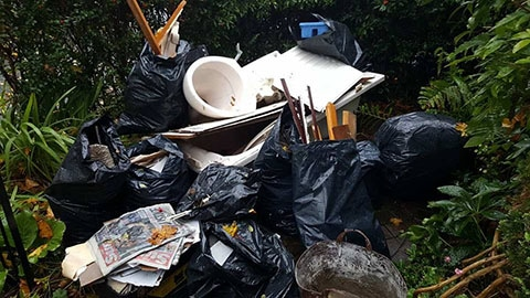 garden rubbish waste removal birmingham before