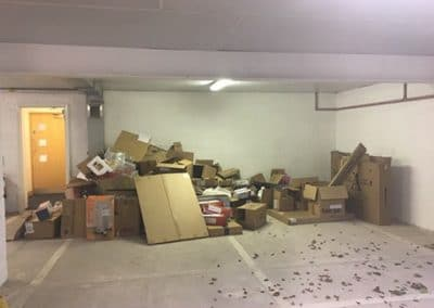 office rubbish removal cardboard before